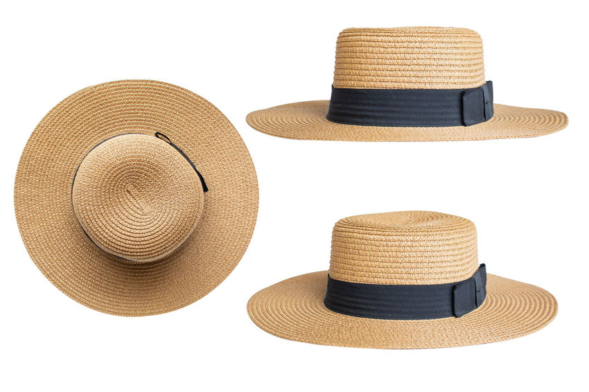 Cut Out Fashion Hat Sun Hat White Background