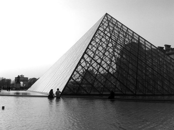 Louvre Postcard Pyramide Du Louvre Urban Geometry