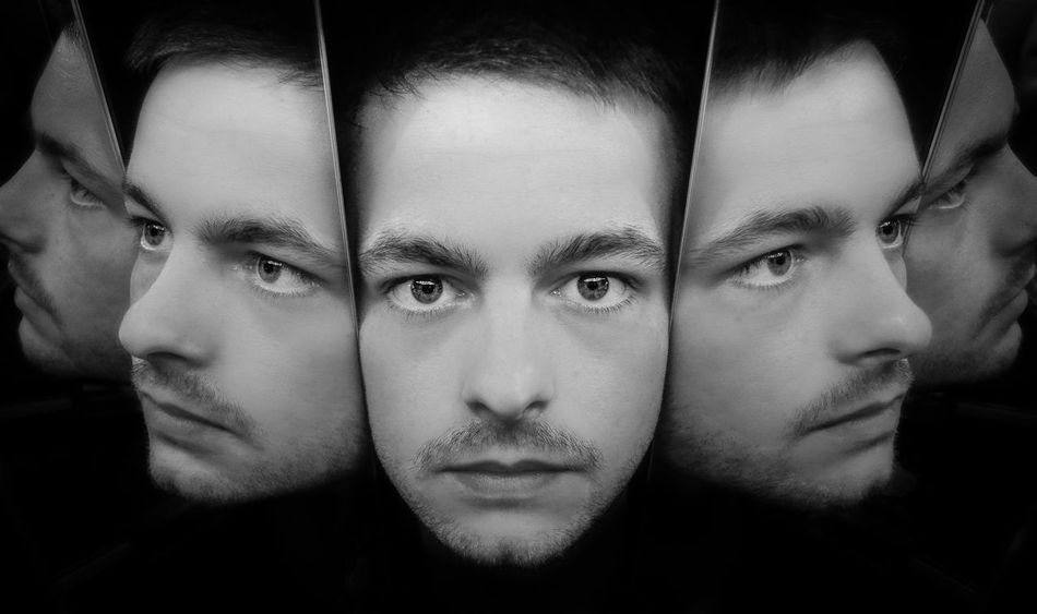 Adult Adults Only Black Background Blackandwhite Close-up Day Front View Headshot Human Body Part Human Face Indoors  Lifestyles Looking At Camera Men Multiple Image Nature One Person People Portrait Real People Young Adult Young Men