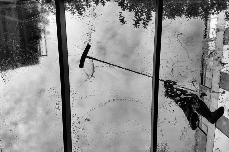 Cleaning the sky Bw Bw_collection Bw_collection BW_photography Day Pattern Full Frame Outdoors Backgrounds Sky No People Close-up Architecture EyeEm Ready