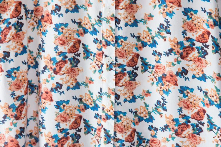 Backgrounds Blue Buttons Casual Clothing Close-up Day Directly Above First Eyeem Photo Flooring Floral Full Frame High Angle View Indoors  Large Group Of Objects Linen Linen Fabric Multi Colored No People Pattern Shape Shirt Star Shape Still Life Studio Shot Textile