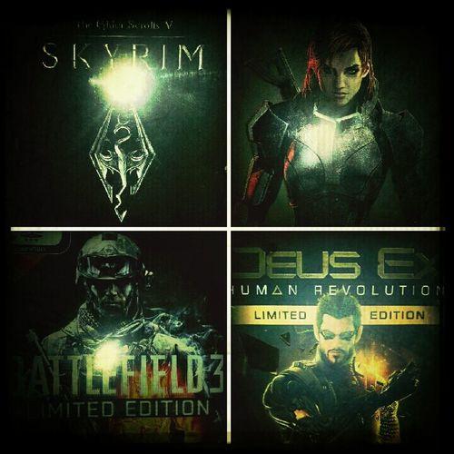 The Four Big Zocken Games Skyrim Video Games Battlefield 3 Mass Effect 3 Deus Ex : Human Revolution