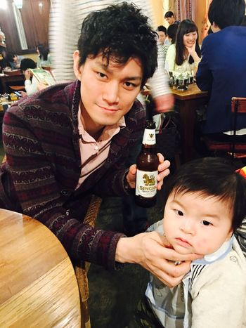 Singha Beer Dad And Son Two People Looking At Camera Childhood Family Time Babyhood Babyboy Mysweetbaby