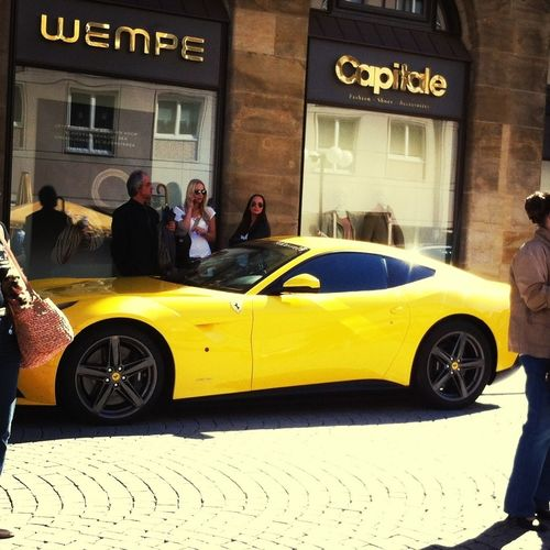 Michael Balacks Car (Ferrari) ! Hanging Out Car Taking Photos Yellow