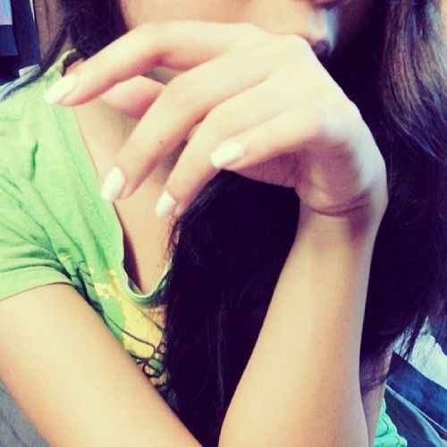 "Simple as white Nails :""> Teenstuff"