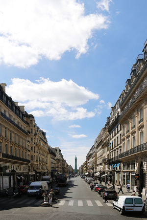 Blue Sky City Street France Holiday Paris Urban Street White Clouds Zebra Crossing