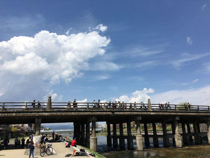 Bridge City Cloud - Sky Kamogawa Outdoors People River Water