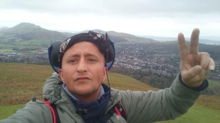 Posing for a selfy on my trek