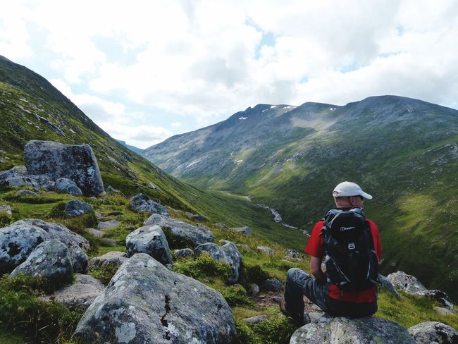 Aonach Moor. Scotland Aonach Mor EyeEmNewHere Mountain One Person Leisure Activity Cloud - Sky Real People Lifestyles Beauty In Nature Scenics - Nature Sky Outdoors Hiking Tranquil Scene Mountain Range Tranquility