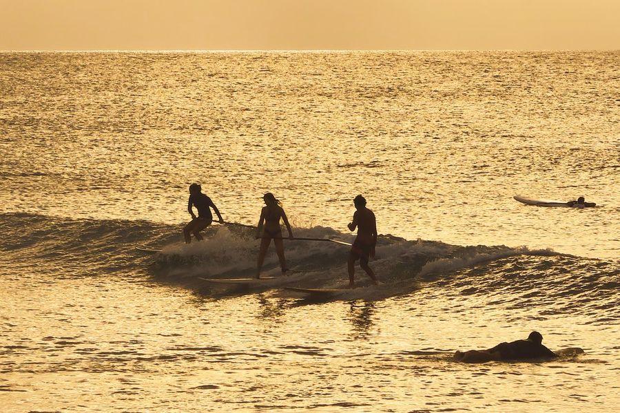 Surfers in Jericoacoara. Jericoacoara - CE Jericoacoara Surf Surfing Surfers Surfingphotography Photography Sea Water Horizon Over Water Sunset Wave Scenics Lifestyles Silhouette Praia Beach Photo Of The Day EyeEm Best Shots Brasil Brazil Brasil ♥ Photooftheday Ceará Bestoftheday