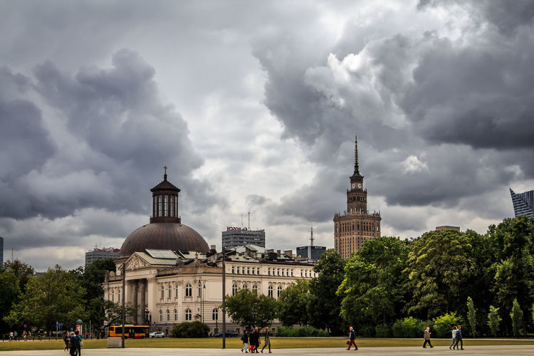 City Cloudy Dramatic Sky EOS Poland Warsaw Warsaw Poland Warszawa  Architecture Building Building Exterior Canon Canon_photos Canonphotography City Cloud - Sky Clouds Europe Sky Tourism Travel Travel Destinations