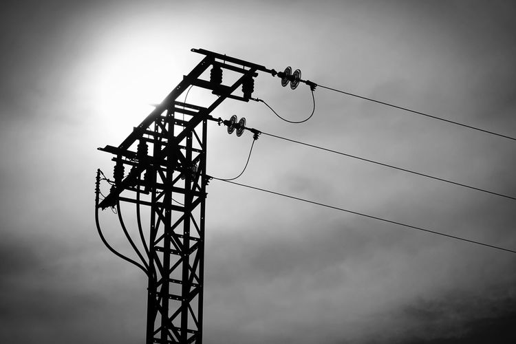 power tower Balck And White Technology Electricity Pylon Electricity  Cable Silhouette Fuel And Power Generation Business Finance And Industry Power Line  Power Supply Electric Pole Electrical Grid High Voltage Sign