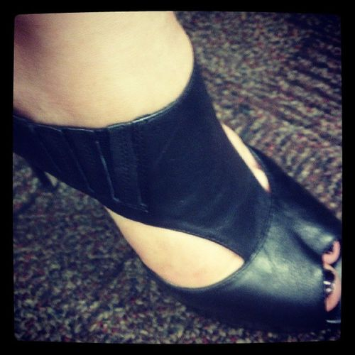 Leather Tstrap 4Inches HighHeels highstandards