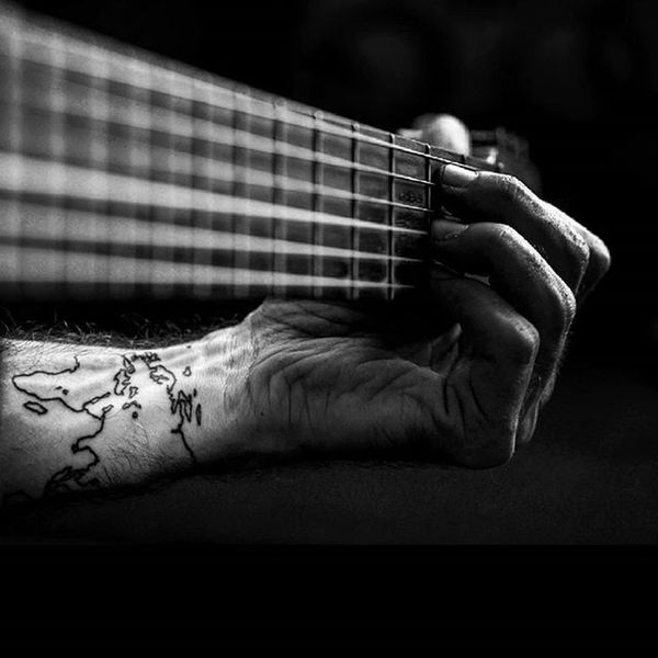 Finally decided to unpack the Guitar and give my Fingers a little bit of punishment! Photooftheday Picoftheday Goodfeeling Music Acoustic Guitarist Solo Instamusic Blackandwhite Bw Selfie Blackandwhitephotography Instagood Followme Tattoo Ink Instatattoo Worldmaptattoo Worldmap Wanderlust Travel Inked Lumix GX7