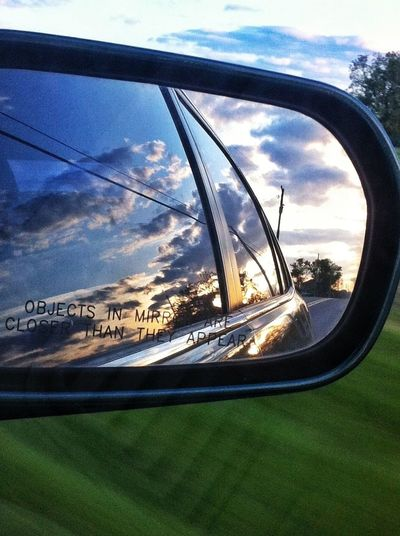 Having fun w/these rear view mirror and side view mirror shots! Sky_collection Through The Mirror EyeEm Best Shots Frame It!