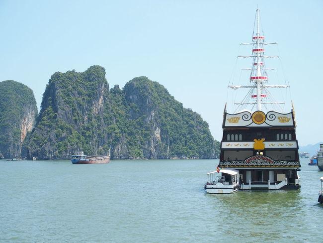 Halong Bay Cruise, Vietnam Boat Cruise Halong Bay Vietnam Mode Of Transport Mountain Nautical Vessel Scenics Sea Tranquility Transportation Vietnam Water Waterfront