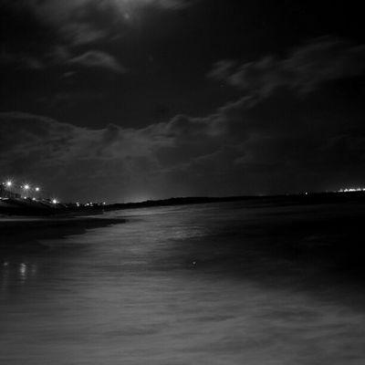 Sony Nex Nex5n Skopar 21mm sydney australia bw bnw bnw_society cronulla nightphotography longshutter