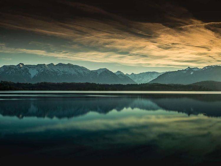 Staffelsee bei Uffing Bayern Germany Werdenfels Garmisch-partenkirchen Zugspitzblick Hanging Out Taking Photos Mountain Alps Sunset_collection Nature Photography #naturelovers Bestoftheday Best EyeEm Shot Landscape Reflection Sky And Clouds No People Non-urban Scene Lake View Silence Tranquil Scene Sky Tree First Eyeem Photo