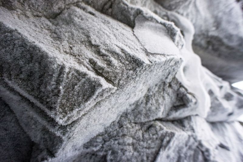 Frozen wall of the cave Close-up Backgrounds Textured  Full Frame Indoors  No People Stonewall Cave Frozen Nature