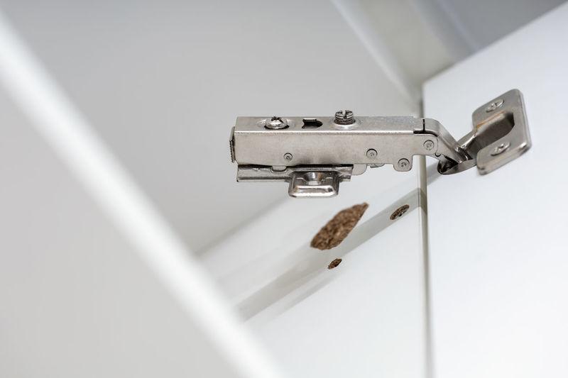 Close-up of padlocks on ceiling
