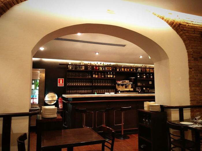 Interior Views and Interior Design of the Spanish Tapas Restaurant in Barcelona SPAIN Barcelona, Spain Indoors  Design Indoor Bar Restaurants Restaurant Decor Decor Room Decor Glasses and Bottles Eye4photography  EyeEm Gallery View Cafe Barcelonalove