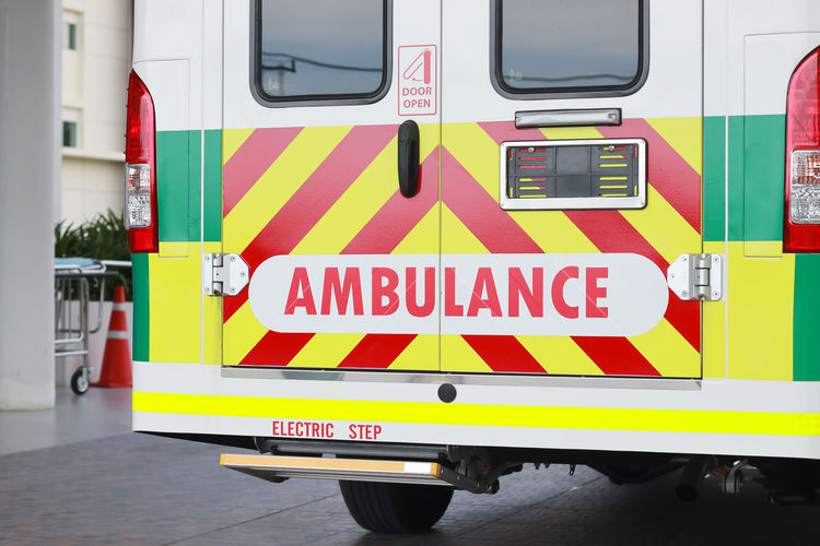 Ambulance Parked On Street