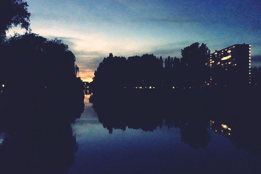 Park at Night. Park Nightlife Jogging Sport Zaandam