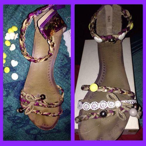 nuova vita ai miei sandali!! Riciclo Creativo Recycle Recycling creative shoes newlife bottons glue fantasy fantasia creatività creativitàcp creatività2014 creatività tagsforlike instagood colori moda fashion