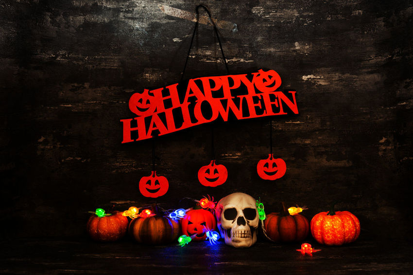 Western Script Text Illuminated Communication Halloween Night No People Celebration Food And Drink Lighting Equipment Pumpkin Sign Food Jack O' Lantern Glowing Wall - Building Feature Indoors  Art And Craft Spooky Dark