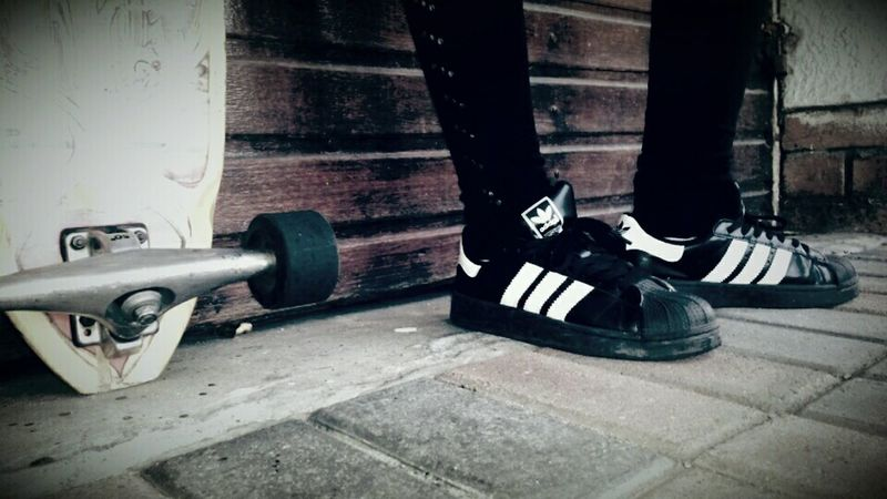 We wear the same shoes but we walk different paths Adidas Superstar Adidassupertar Adidas Craigraphyking Eyeemphotography Longboarding Adidas Swag