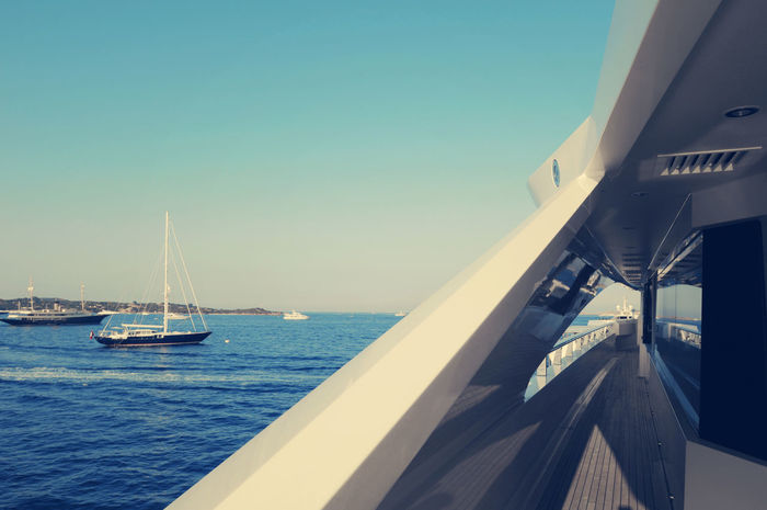 Yacht Beauty In Nature Blue Boat Cropped Day Horizon Over Water Mode Of Transport Nature Nautical Vessel No People Ocean Outdoors Rippled Sail Sailboat Sailing Scenics Sea Ship Sky Tranquil Scene Tranquility Water Yacht