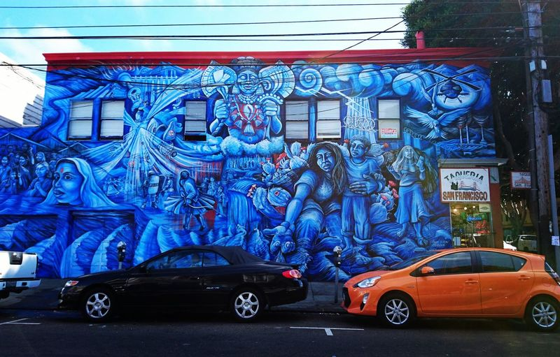 Outdoors Blue California Street City San Francisco Missiondistrict Graffiti Graffiti Art Streetphotography Street Life