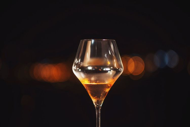Alcohol Refreshment Wineglass Black Background Food And Drink Close-up Wine Drinking Glass Drink No People Freshness Indoors  Whiskey Feast Party City New Year Champagne Fresh On Market 2016