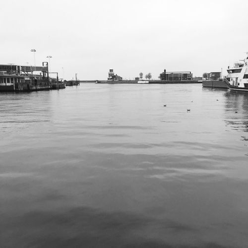 In the port of Helsingborg No People Waterfront Bw_collection Calmwater MADE IN SWEDEN Edge Of The World