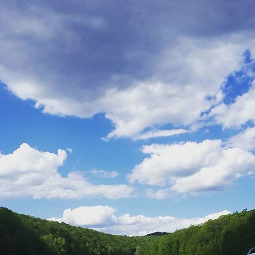 Reminds me of Navitrolla Painting not in manhattan anymore Upstateny Roadtrip Fluffyclouds