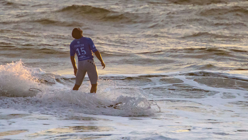 2015 Men's Samsung Galaxy Championship Tour Atlantic Ocean Champions Copy Space Disappointed Extreme Sports Famous Final Italo Ferreira Lost Moche Rip Curl Pro Surfing Ocean Outdoors Rip Curl Stunts Sunset Surfing Vibrant World Championship Surfing World Surf League Wsl Surf's Up