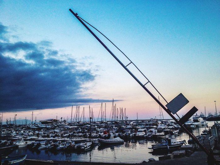 Boat Nologo Norefernce Sea And Sky Sunrise Port