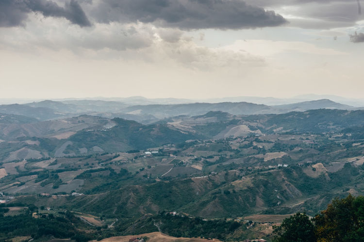 Hills Panorama San Marino Beauty In Nature Day Idyllic Italy Land And Sky Landscape Mountain Mountain Range Nature No People Outdoors Scenics Sky Tranquil Scene Tranquility Lost In The Landscape