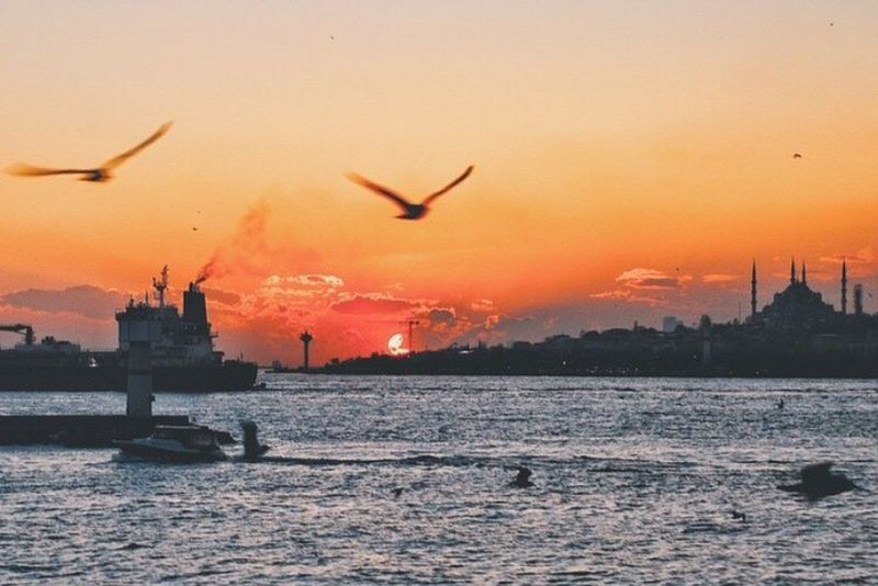 I Miss Istanbul I'll Be Back Bosphorus Sunset Sultanahmet Turkey Türkiye Traveling Journeys