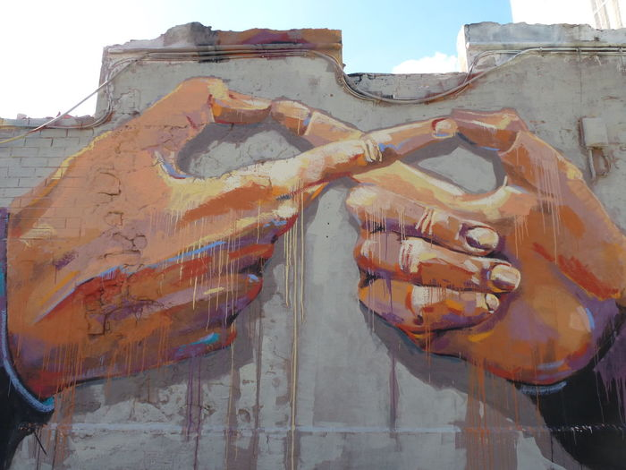 Art Is Everywhere Built Structure Graffiti Graffity Art Human Hand Outdoors Street Photography Togetherness Urban Geometry