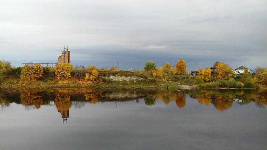 Pskov осень рекаВеликая отрожение природа пейзаж