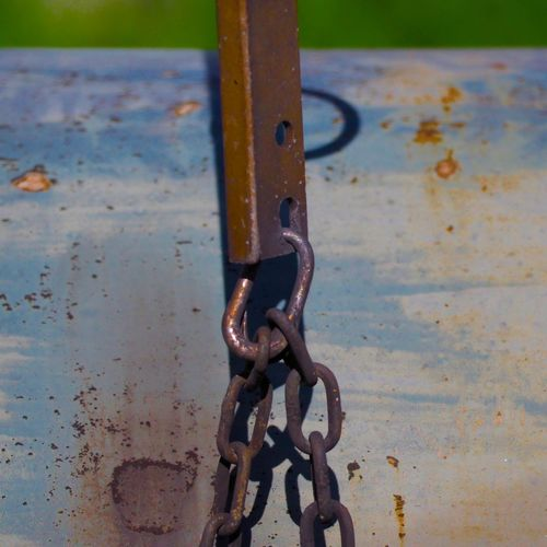 Chain Close-up Day Infrastructure Metal No People Outdoors Railroad Rusty Saturation