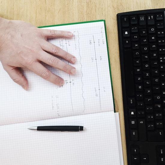 Desks From Above Notebook Pen Desk Keyboard
