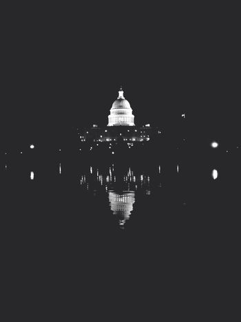 2013 -06-17 US Capitol Building by night. Liwa's Travels Black And White