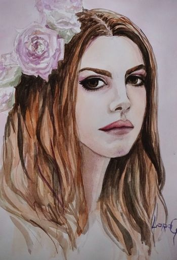 Watercolor акварель Я рисую ЛанаДельРей LanaDelRey Drowing My Art Iloveit I Love It ❤ From Russia With Love http://youtu.be/QnxpHIl5Ynw