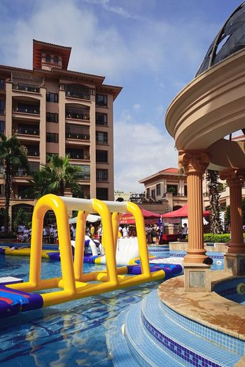 Paint The Town Yellow Architecture Village Swimming Pool Game