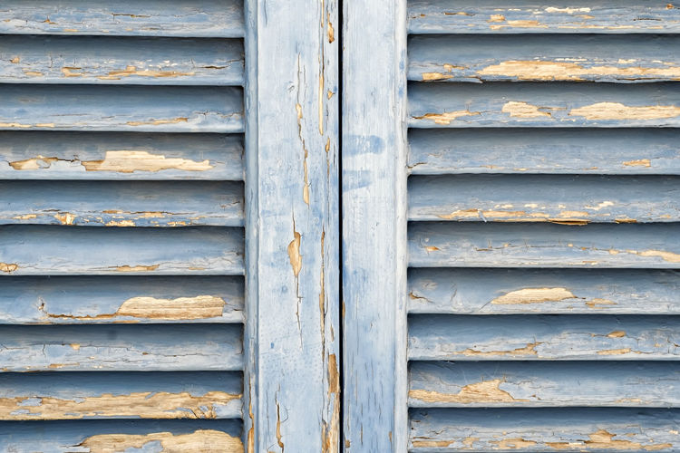Blue Window Shutter Backgrounds Full Frame Architecture Old Pattern Wood - Material Weathered Blue Window Shutter Peeling Paint Abstract Close Up Concept Conceptual Protection Safety Security Light Blue Window Shutter Closed Background Wallpaper Backdrop Textured  Textures