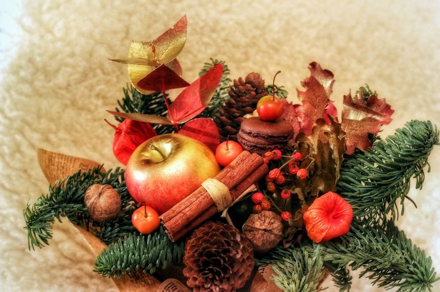 my handmade: think about Christmas but remembering autumn Autumn Autumn Colors Celebration Christmas Christmas Decoration Christmas Tree Close-up Composition Decoration Flora Floristics Food Handmade Holiday - Event My Handmade Pine Cone Red