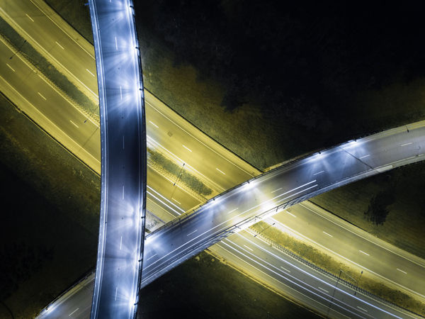flyover - roads at night form drone - light trails Areal Bird View Cars City City Lights Cross Dji Drone  Flyover High Angle View Highway Illuminated Infrastructure Light Trail Lights Long Exposure Mavicpro Motion Night Nightphotography Roundabout Traffic Transport Transportation Transportation