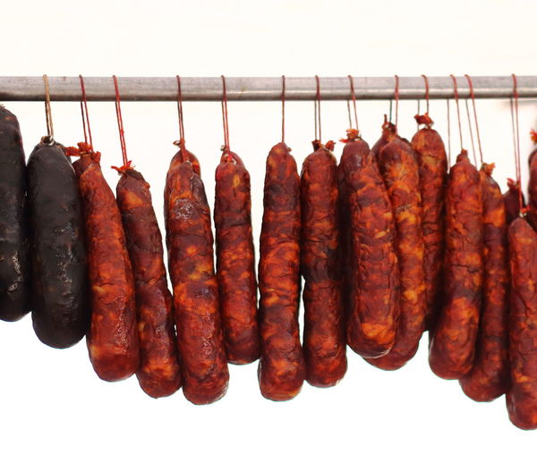 Spicy sausages lines up in tasty fashion